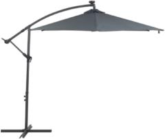 Beliani Parasol met LED-verlichting en zonnepaneel grafietgrijs CORVAL