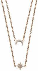 Goudkleurige Emporio Armani Heritage Collier (Lengte: 40.00-45.00 cm) - Roségoud