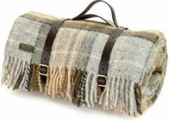 Grijze Tweedmill Picknickkleed McKellar/Brown