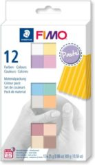 Merkloos / Sans marque Fimo soft colour pack 12 pastel colours 8023 C12-3 / 12x25gr (04-19)