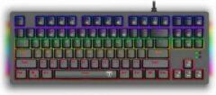 Zwarte T-Dagger TGK311 BALI Mechanisch RGB Gaming Toetsenbord | QWERTY Gaming keyboard Tenless Key met Anti-Ghosting toetsen, Blue Switches & Aluminium Frame