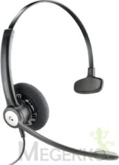 Plantronics Entera QD monaural Telefoonheadset QD (Quick Disconnect) Kabelgebonden On Ear Zwart