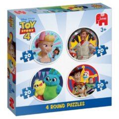 Jumbo legpuzzel Disney Toy Story 4 puzzel 4-in-1 80 stukjes