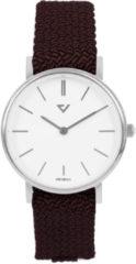 Prisma Horloge P.1860.WE27 slimline Nylon wijnrood 5ATM