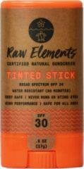 Raw Elements Natuurlijke Zonbescherming Stick SPF 30 - huidkleurig