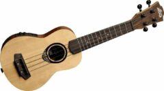 LAG Guitars Tiki Uku 150 TKU150SE elektrisch-akoestische thinline sopraan ukelele met gigbag