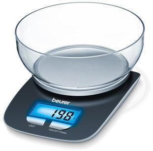 Afbeelding van Beurer KS25 Digitale keukenweegschaal Digitaal, Met schaalverdeling Weegbereik (max.): 3 kg Zwart