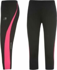 Roze Karrimor Hardloop Capri - Running Capri - Dames - Zwart/Pink - S (10)
