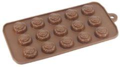 Bruine Kitchen Princess - Siliconen Chocoladevorm Roosjes - Chocolade Mal Fondant Bonbonvorm