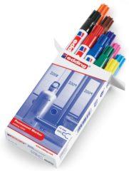 Edding 4-3000999 Zwart, Rood, Donkerblauw, Donkergroen, Geel, Lichtblauw, Roze, Bruin, Oranje, Violet Watervast: Ja