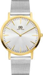 Gouden Danish Design watches unisexhorloge London Silver Two-Tone Large Mesh IQ65Q1235