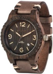 Herrenuhr Alpha SW Black Rough WeWood braun