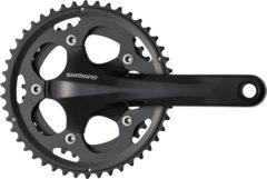 Zwarte Shimano FC-CX50 Zwengel Cyclocross 2x10-speed zwart Uitvoering 170 mm