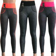Roze Merkloos / Sans marque Yoga annex sport-leggings (3pack)