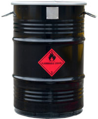 BarrelQ - Small industrieel houtskool Barbecue vuurkorf en statafel in één 60L olievat zwart
