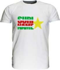 Funny Fashion Suriname Vlag T-Shirt met Ster Zwart / Wit / Grijs / Blauw / Groen, Maat: 116