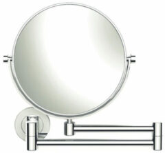 Nemo Spring Icono cosmeticaspiegel pivoterend met dubbele arm messingglas wandmontage 3x vergrotend 70485