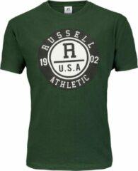 Groene Russell Athletic Men SS Crewneck Tee Men SS Crewneck Tee Heren T-shirt Maat S