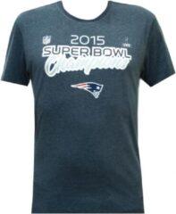Blauwe New Era Superbowl Champion Tee Patriots American Football T-shirt Maat M