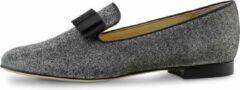 Zilveren Loafers met Glitter – Dames Instappers – Grijs Brokaat – Werner kern Linn – Maat 39