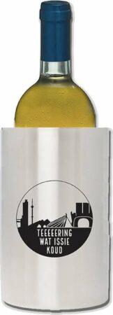 Afbeelding van Zilveren Wood YuBi Wijnkoeler Teeeeering was issie koud