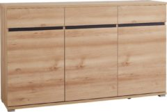 Antraciet-grijze Germania Dressoir Lenny 144 cm breed - Edel beuken