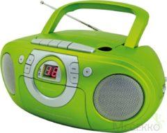 Soundmaster SCD5100GR CD boombox met radio en cassettespeler groen