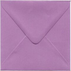 Merkloos / Sans marque Luxe Vierkante enveloppen - 500 stuks - Fuchsia - 14x14 - 120grms