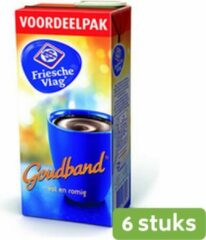 Friesche Vlag | Goudband | Koffiemelk | Pak 6 x 930 ml
