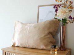 Mori Concept - Glamour zijden kussensloop - 50x75 - Beige - 100% Moerbei zijde –Mulberry Silk Pillowcase