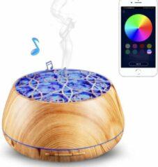 Bruine Devacieux® Aromadiffuser - Vernevelaar - Luchtbevochtiger Aromatherapie - Aromadiffuser Olie Babykamer - Bluetooth Speaker