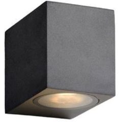 Zwarte Lucide ZORA-LED - Wandspot Buiten - LED Dimb. - GU10 - 1x5W 3000K - IP44 - Zwart