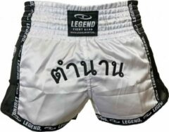 Witte Legend Sports Kickboks broekje THAI Legend Trendy S