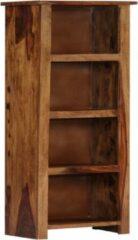 Bruine Merkloos / Sans marque Boekenkast 50x30x100 cm (Incl Magazine houder) massief sheesham hout - Boeken kast