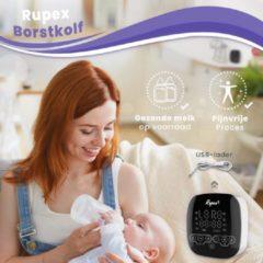 Witte Rupex Borstkolf- Dubbel Elektrisch- Electrisch- Dubbel Kolven- Baby Voeding- Twee Motoren