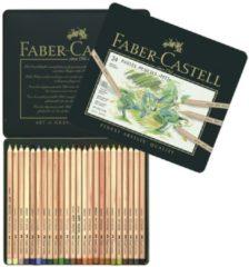 Pastelpotlood Faber-Castell Pitt metalen etui a 24 stuks