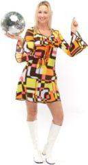 Groene Original Replicas Hippie Kostuum | Jaren 70 Hippie Soul Disco 60s Dolle Lijnen | Vrouw | XXL | Carnaval kostuum | Verkleedkleding