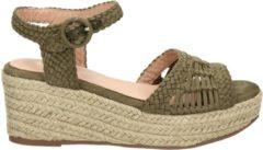 Groene Dolcis dames sandaal - Khaki - Maat 40