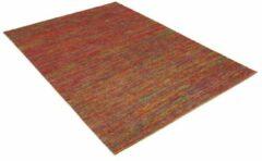 Perezvloerkleden.nl Modern tapijt - Miles groen - rood 140x70cm