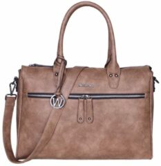 Wimona Fabiana Two 2022 Schoudertas / Laptoptas - 15,6 inch - Taupe