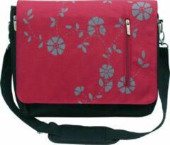 """Rode Camelion College Messenger Schoudertas Voor Notebook / Apple Macbook Air - 15.4/15.6"""" Laptop bag / Red"""