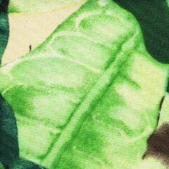 Agora Amazonas 101310 gebloemd groen, zwart, wit stof per meter buitenstoffen, tuinkussens, palletkussens