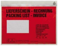Documententas DIN C5 Rood Lieferschein-Rechnung, mehrsprachig Zelfklevend 250 stuks/pak 250 stuk(s)