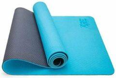 Sens Design yogamat sportmat fitnessmat - lichtblauw/grijs
