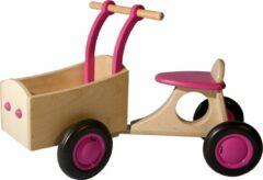 Van Dijk Toys - Loop-bakfiets Junior Roze