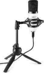 USB microfoon voor pc - Vonyx CM300W USB studio microfoon incl. inklapbare tafelstandaard voor podcast, gaming, streaming, vlogs, ps4, etc. - Wit