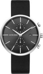 Zilveren Jacob Jensen chronograaf herenhorloge Linear 620