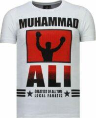 Local Fanatic Muhammad Ali - Rhinestone T-shirt - Wit Muhammad Ali - Rhinestone T-shirt - Groen Heren T-shirt Maat XXL