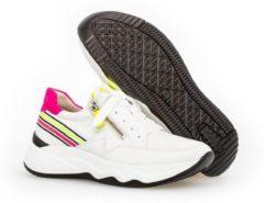 Gabor Sneakers 43 492 23 Wit Neon Verwisselbaar Voetbed 38.5