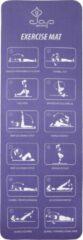 JAP Sports Sportmat met oefeningen - Trainings mat - Fitnessmat - Yogamat - Sport matje - Paars